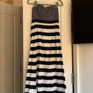 Vineyard Vines Navy + White Maxi Dress NWT Sz 6